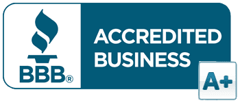 BBB A+ Rating Seal. BBB Accredited business since 2010