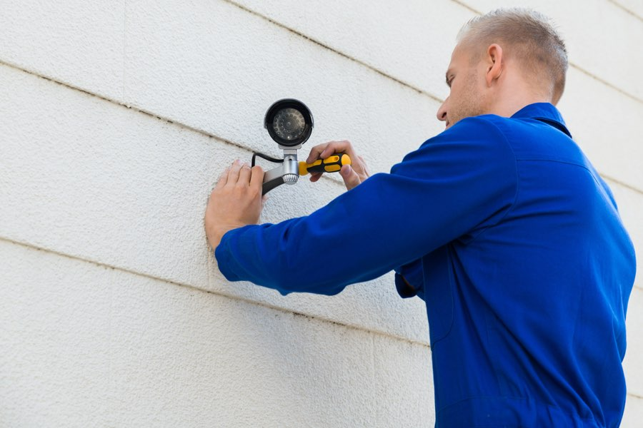 Professional Security Installation of a security camera