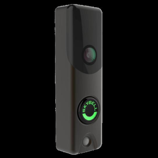 Skybell Alarm.com Doorbell Camera Bronze Angle