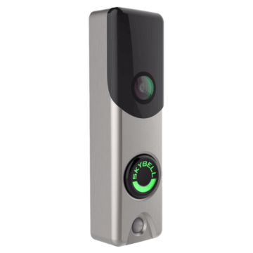 Skybell Alarm.com Doorbell Camera Nickel Angle