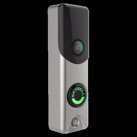 Skybell Alarm.com Doorbell Camera Nickel Angle
